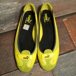 Puma Eco Ortholite Neon Yellow Slip Ons Size 8.5